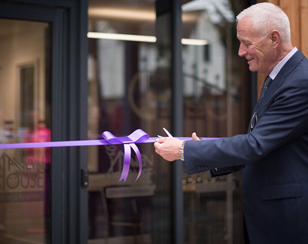 Barry Hearn opens The Matchroom Suite at Haven House
